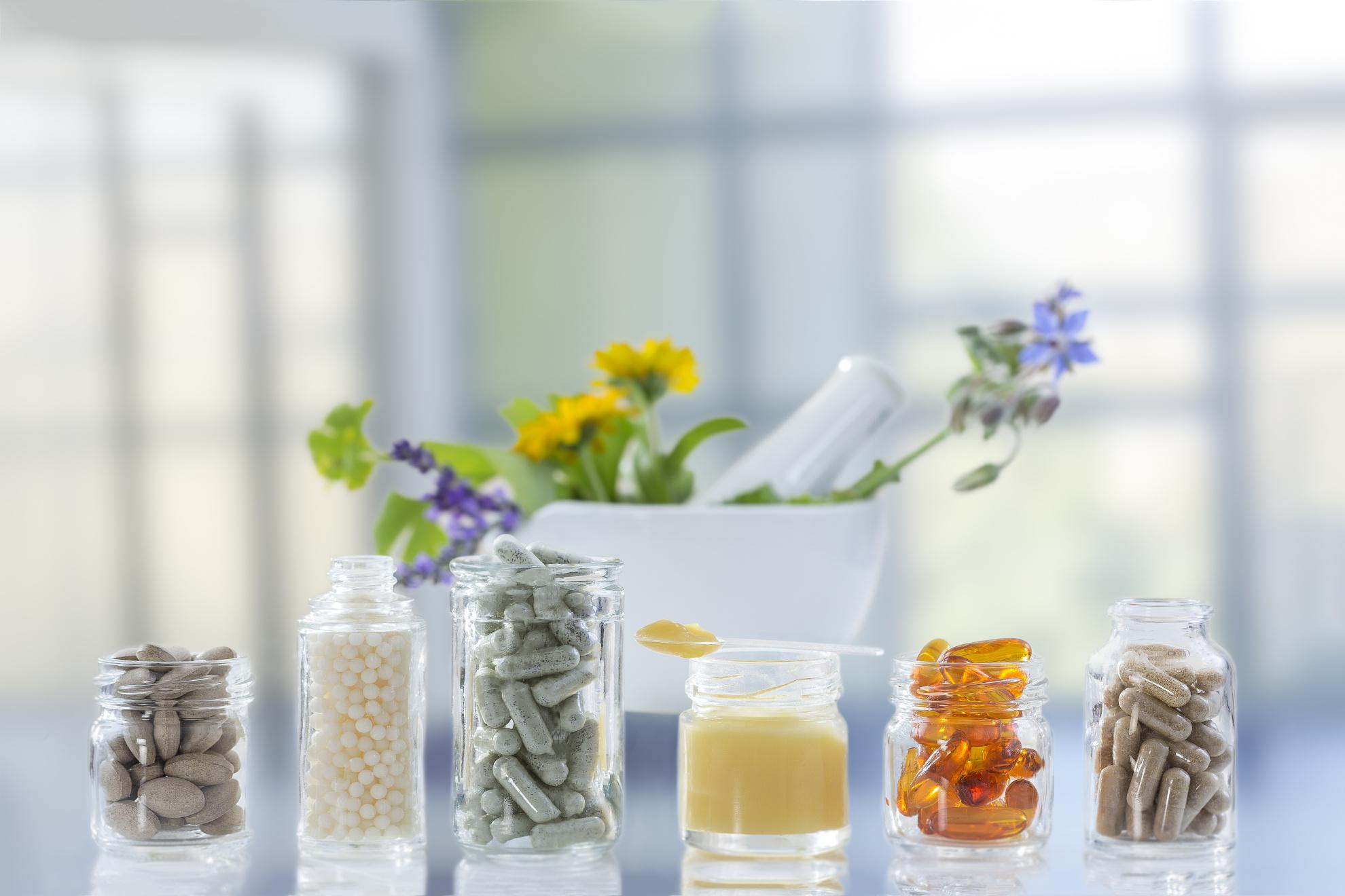 Prodotti naturali per l'integrazione alimentare umana